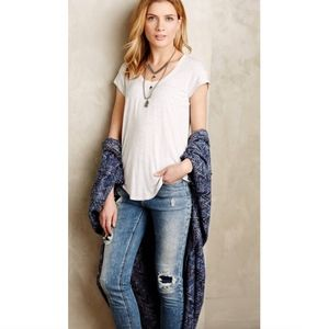 Bordeaux Anthropologie Gray Weekend Scoop Tee